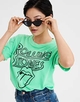 AE Neon Rolling Stones Graphic T-Shirt