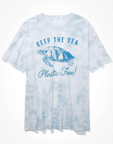 AE Tie Dye Turtle Graphic T-Shirt