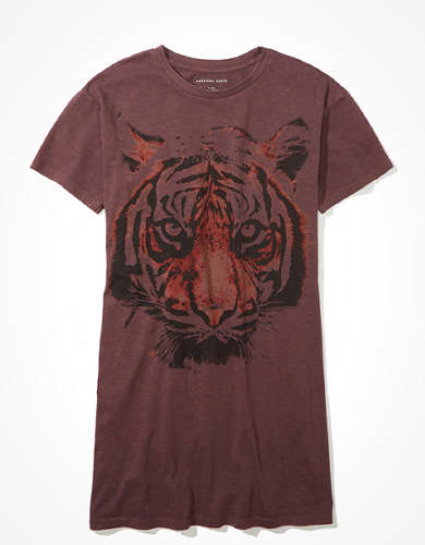 AE Tiger Graphic T-Shirt Dress