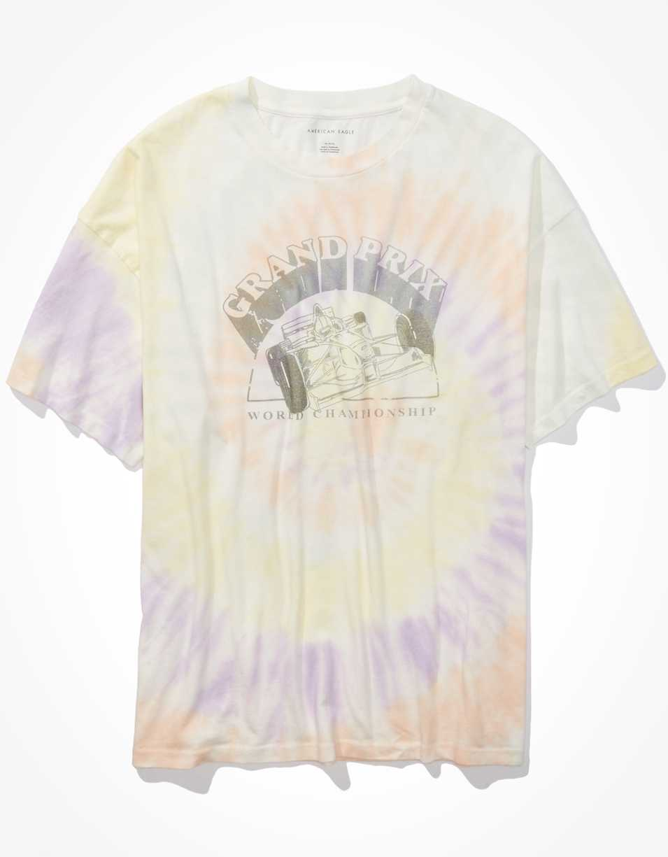 AE Oversized Tie Dye Graphic T-Shirt