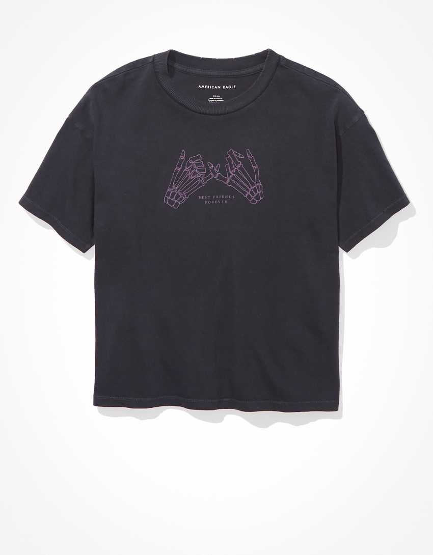 AE Skeleton Hands Graphic T-Shirt