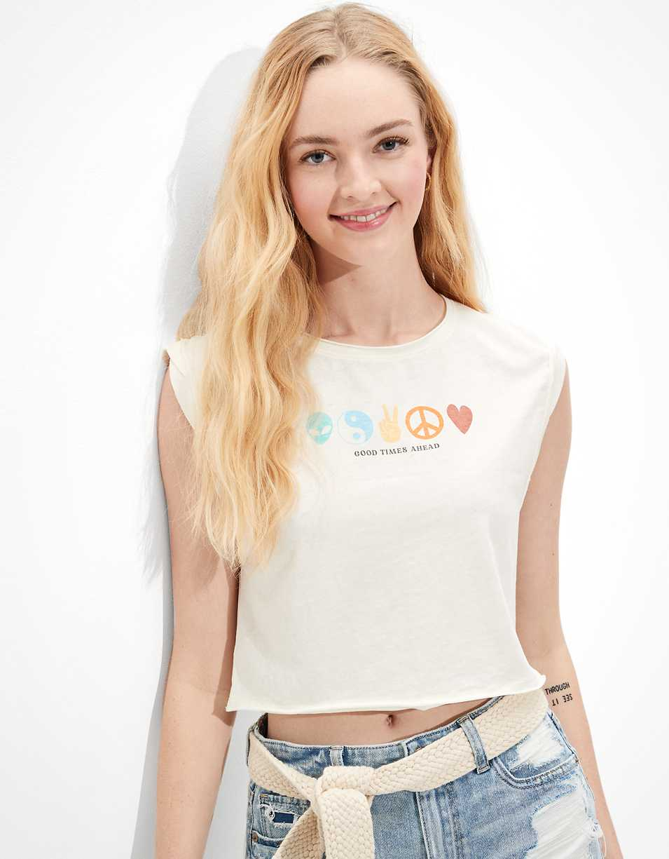 AE Peace + Love Graphic Tank Top