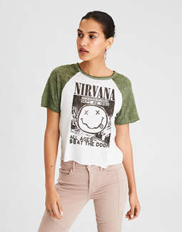 Ae Nirvana Graphic Tee by American Eagle Outfitters