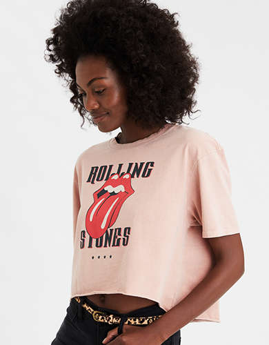 AE Hi-Low Rolling Stones Graphic T-Shirt