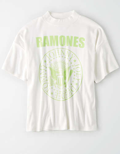 AE Ramones Mock Neck Graphic T-Shirt