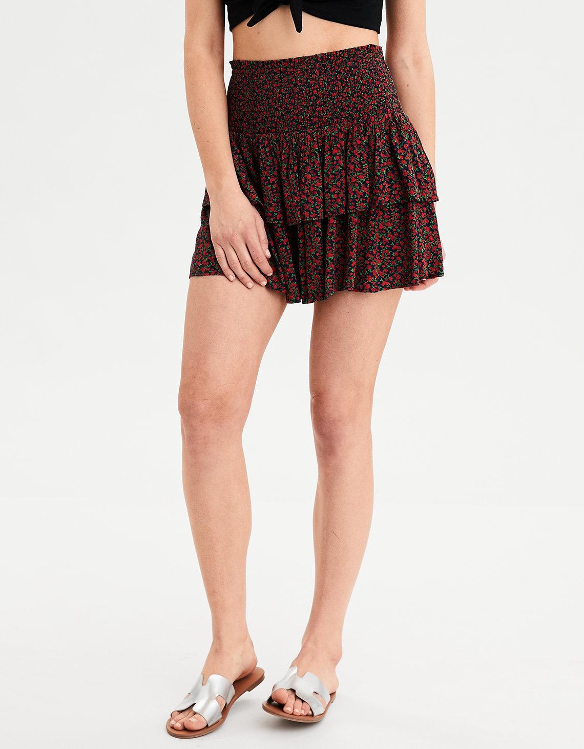 8acab2c72 AE High-Waisted Ruffled Mini Skirt