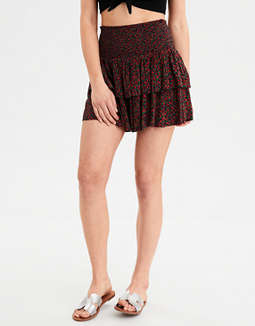 AE High-Waisted Ruffled Mini Skirt