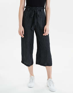 AE High-Waisted Striped Paperbag Pant