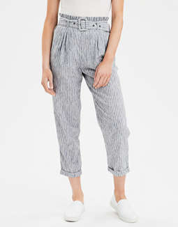 AE High-Waisted Paperbag Tapered Pant