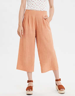 AE High-Waisted  Pleated Culotte