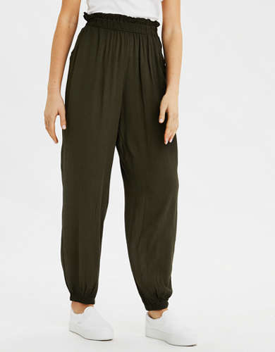 AE High-Waisted Paperbag Jogger