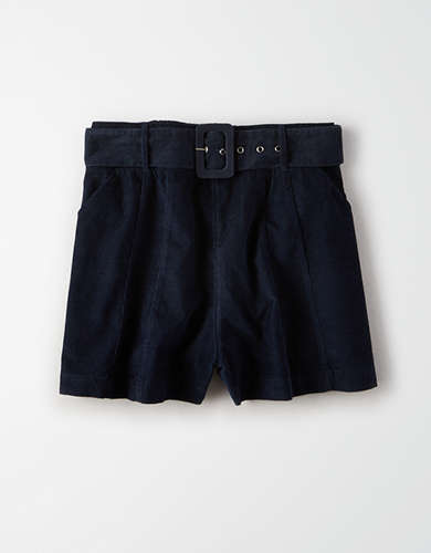 AE Corduroy Buckle Shorts