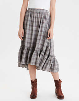 AE High-Waisted Hi-Low Midi Skirt