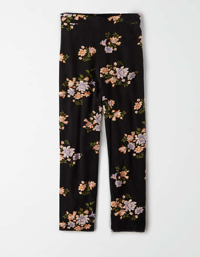 AE High-Waisted Floral Tapered Pant