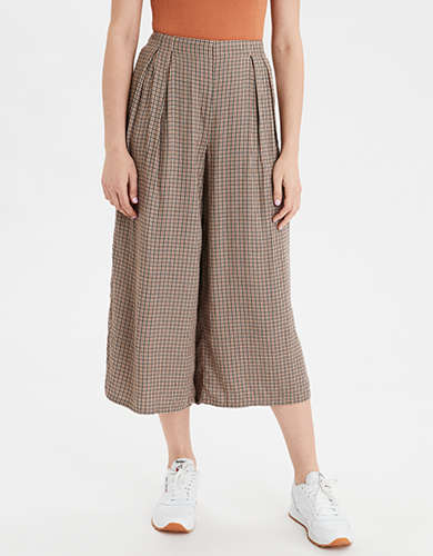 AE High-Waisted Plaid Culotte
