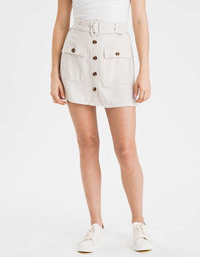 AE High-Waisted Belted Mini Skirt