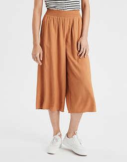Pantalones Cortos Con Cintura Bordada Con Nido De Abeja Ae by American Eagle Outfitters