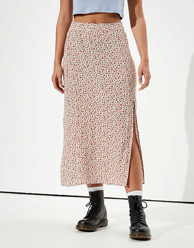 AE High-Waisted Slit Midi Skirt