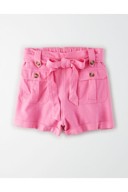 Vintage High Waisted Shorts, Sailor Shorts, Retro Shorts AE High-Waisted Pocket Front Short Womens Pink XXL $19.97 AT vintagedancer.com