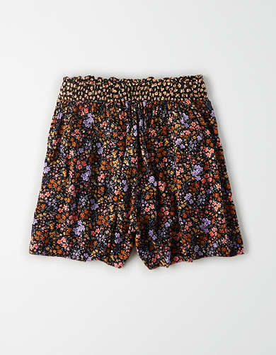 AE High-Waisted Printed Paperbag Short