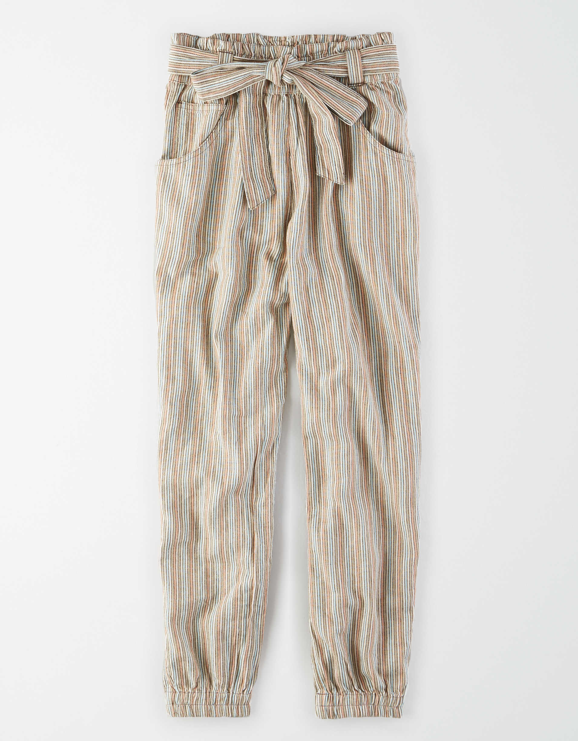 AE High-Waisted Striped Jogger Pant