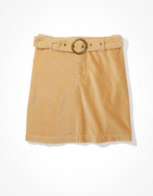 AE Вельветовая мини-юбка с поясом