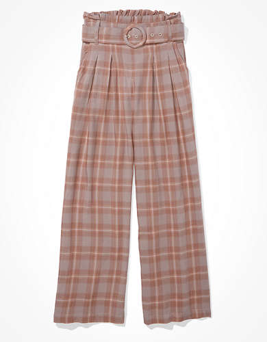 AE High-Waisted Belted Wide Leg Pant