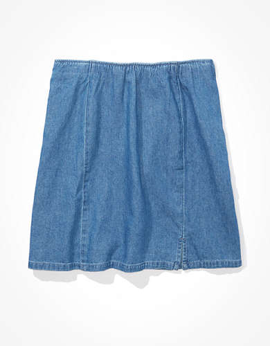 AE Denim Slit Mini Skirt