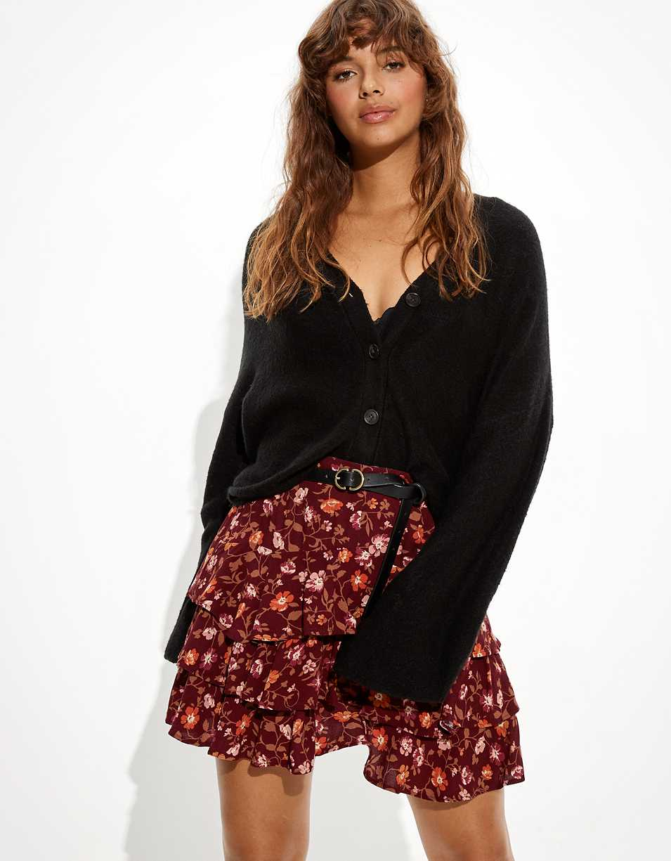 AE Ruffled Tiered Mini Skirt