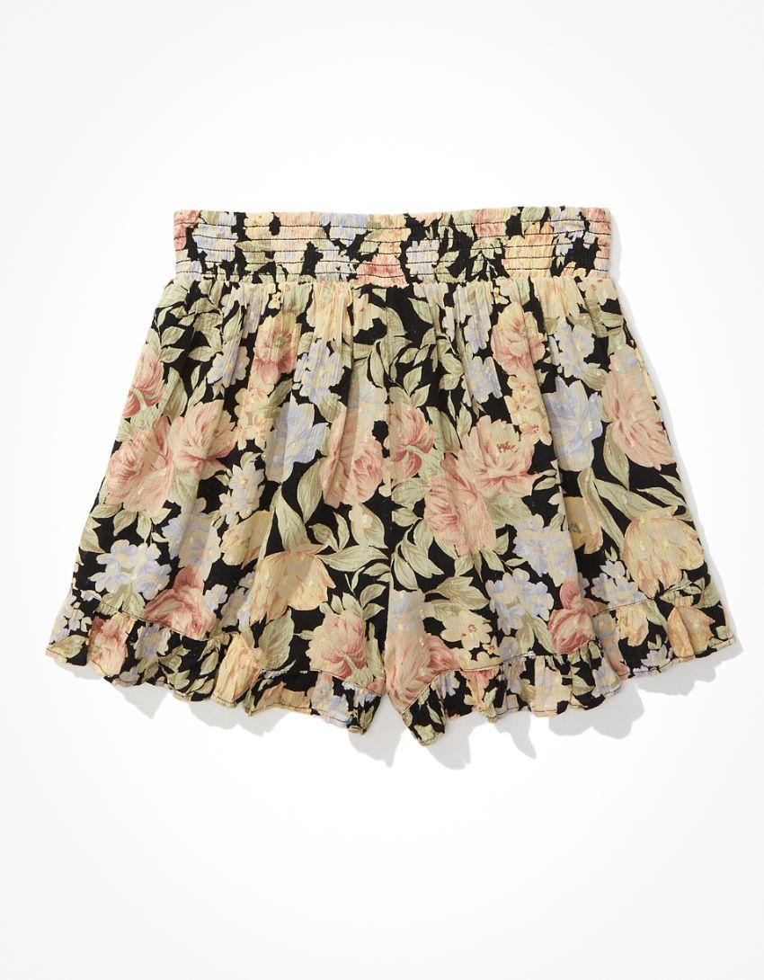 AE Floral Ruffle Short