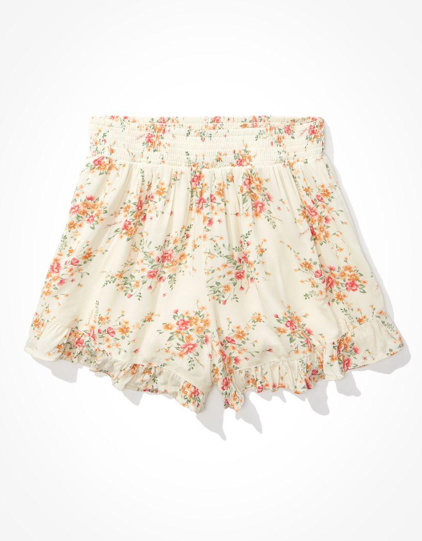 AE Floral Ruffle Runner Short