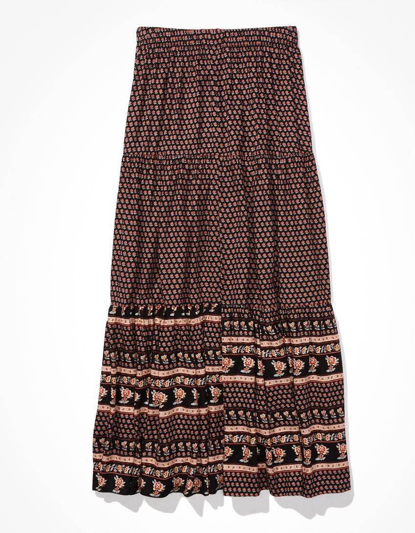 AE Tiered Midi Skirt
