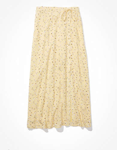 AE Tie-Waist Wrap Midi Skirt