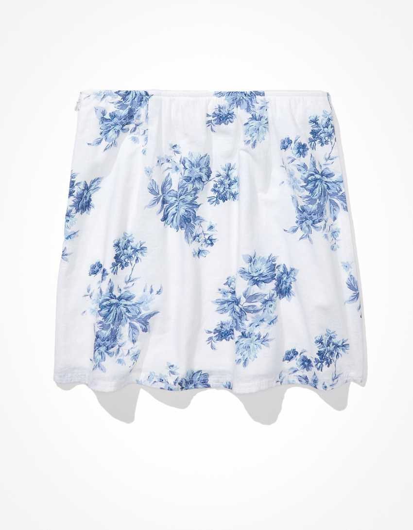 AE Floral Slit Mini Skirt