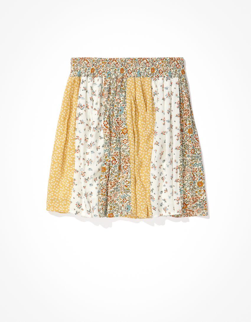 AE Floral Pleated Mini Skirt