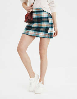 AE Plaid Mini Skirt