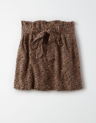 AE High-Waisted Paperbag Mini Skirt