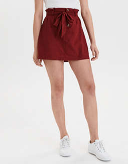 AE High-Waisted Paperbag Mini Skirt