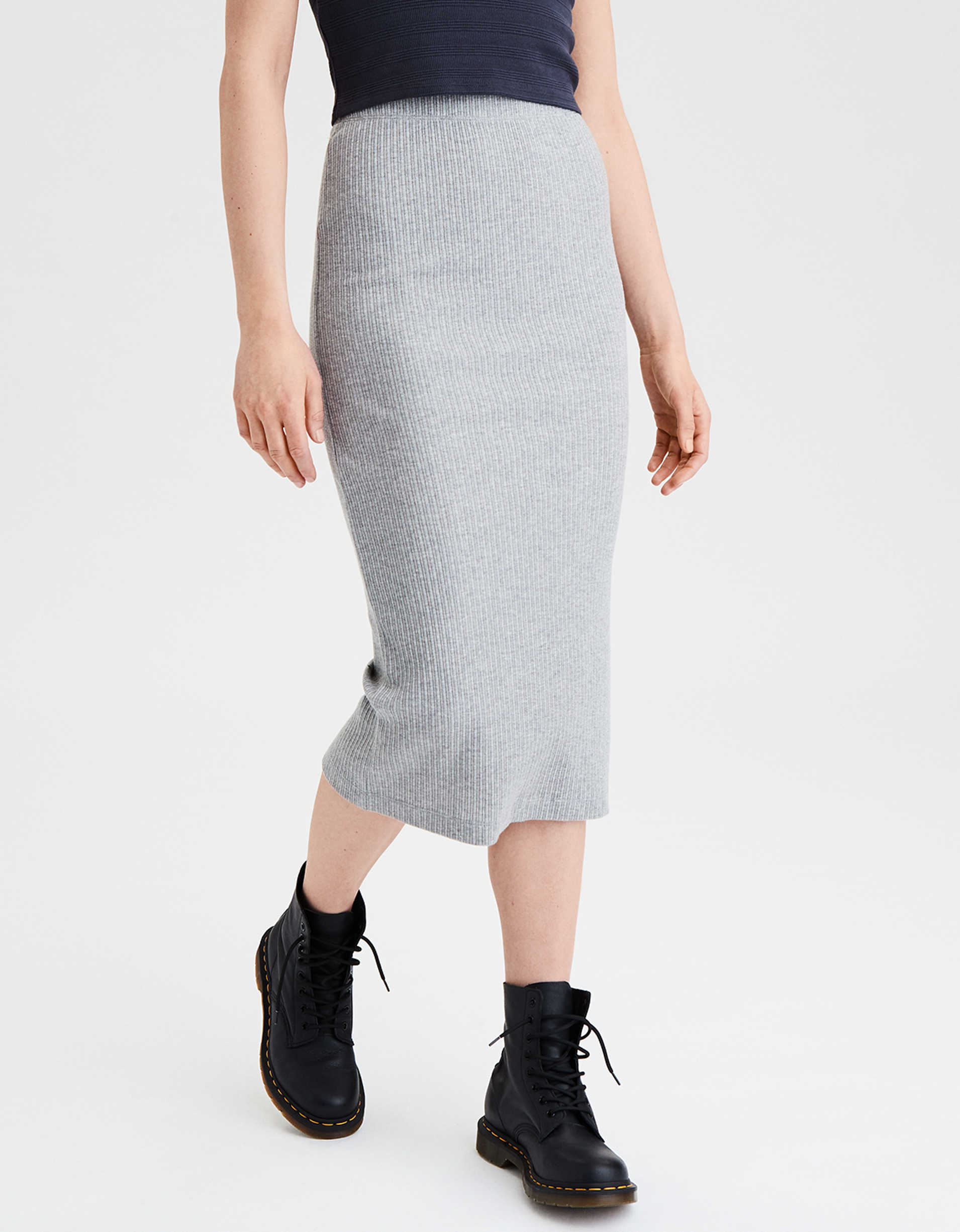 AE High-Waisted Midi Skirt