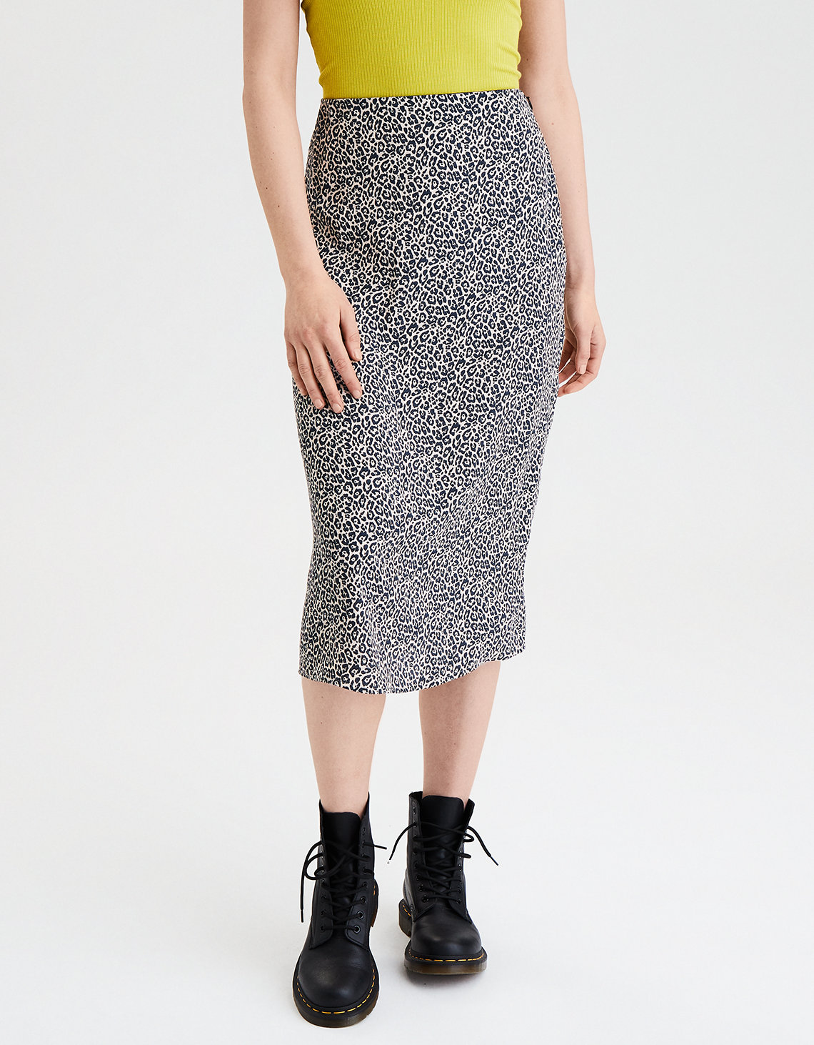 AE Animal Print Midi Skirt
