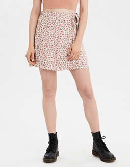 AE High-Waisted Tie Wrap Mini Skirt