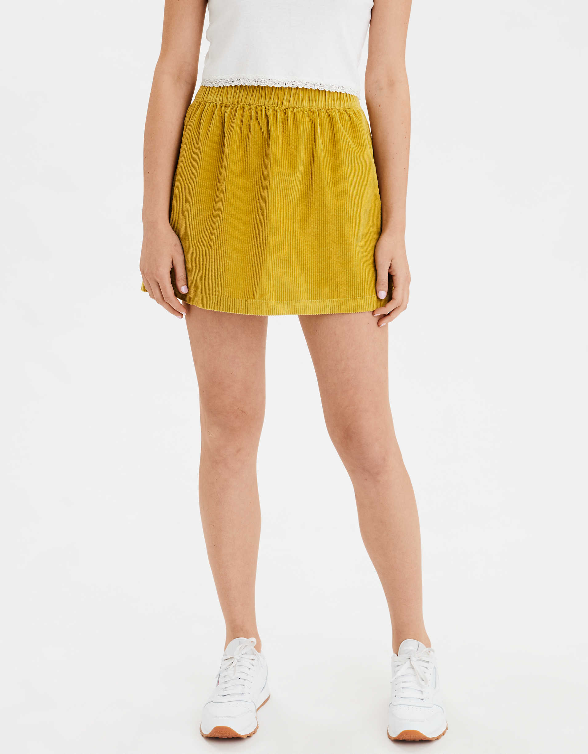 AE High-Waisted Corduroy Mini Skirt