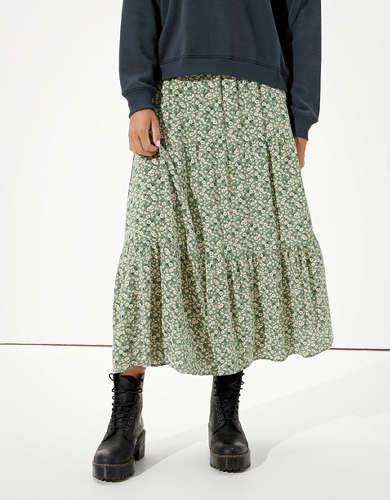 AE Tiered Midi Skirt