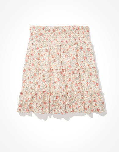 AE Tiered Smocked Mini Skirt