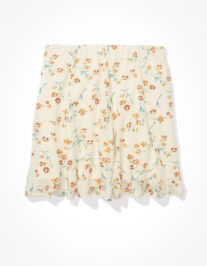AE Floral Godet Mini Skirt