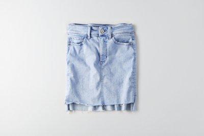 Hi-Rise Midi Denim Skirt