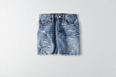 Vintage Hi-Rise Denim Skirt