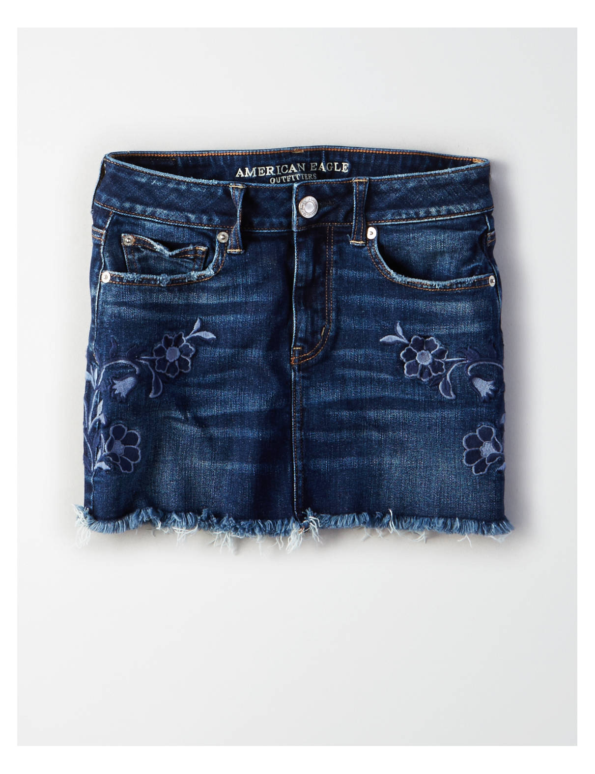 Display product reviews for AE High-Waisted Festival Denim Skirt
