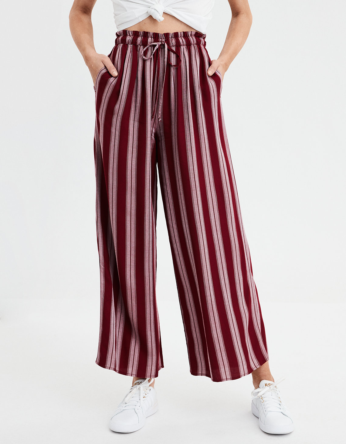 abe3828da9c AE High-Waisted Palazzo Pants
