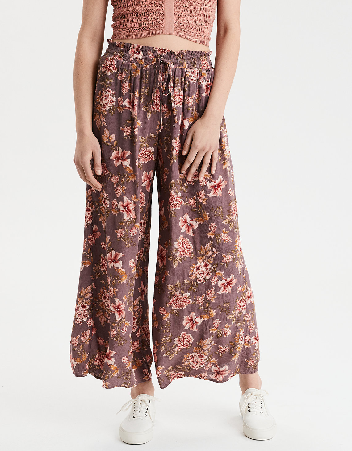 AE High-Waisted Floral Palazzo Pant